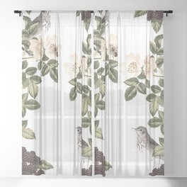 Blackberry Patch Sheer Curtain