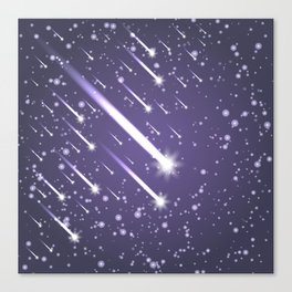 Flying meteors. Ultra violet. Canvas Print