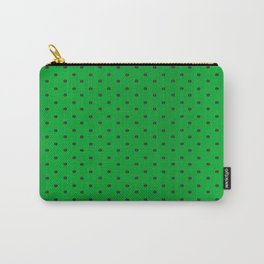 Neon Green and Black Tiny Dots Carry-All Pouch