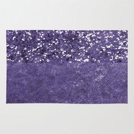 Ultra Violet Glitter Meets Ultra Violet Concrete #1 #decor #art #society6 Rug
