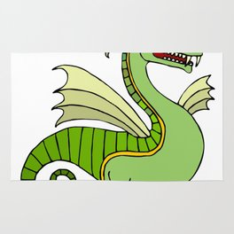 Green Chinese Dragon Rug