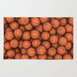 Basketballs Rug