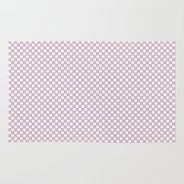 Winsome Orchid and White Polka Dots Rug