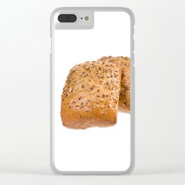 baked graham bread rolls Clear iPhone Case