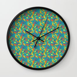 Paradise Tango in Teal Wall Clock