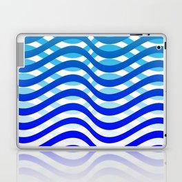 Waving Blue Pattern Laptop & iPad Skin