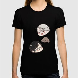 [ yuri on ice ] victor + makkachin + yuri T-shirt