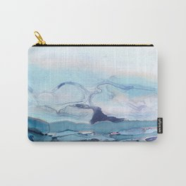 Indigo Abstract Painting | No.6 Carry-All Pouch