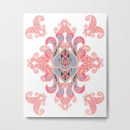 Ethnic paisley ornament. Metal Print
