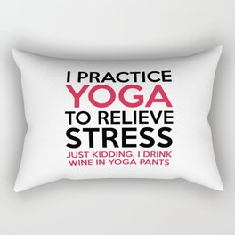 Yoga Pants Funny Quote Rectangular Pillow