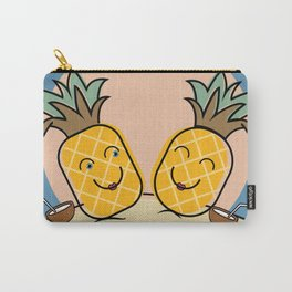 Pineapples at the Beach Carry-All Pouch