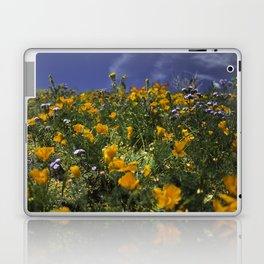 Orange Poppies on the Hill Side Laptop & iPad Skin