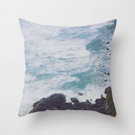 Blue Ocean - Seals on Rocks Throw Pillow