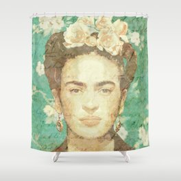 Rosas para Frida Shower Curtain