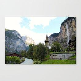 Fairytale Village - Lauterbrunnen Switzerland Canvas Print