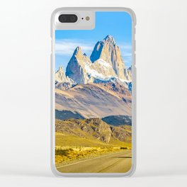 Snowy Andes Mountains, El Chalten, Argentina Clear iPhone Case