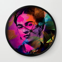 Frida Kahlo - Colors Wall Clock