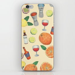 cocktail recipe pattern _ zombie iPhone Skin
