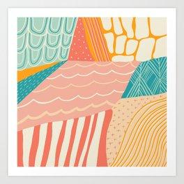 beach quilt Art Print