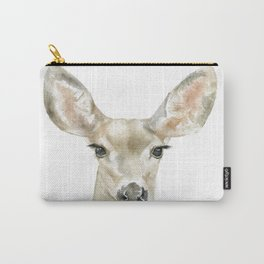 Doe Deer Watercolor Painting Fine Art Carry-All Pouch