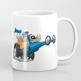 Top Fuel Dragster Cartoon Coffee Mug