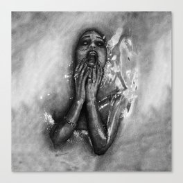 Gina Harisson - The Drowning Woman With Background Canvas Print