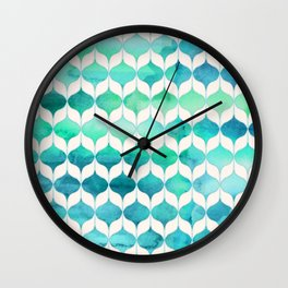 Ocean Rhythms and Mermaid's Tails Wall Clock