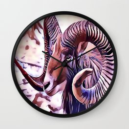 The Bighorn sheep Wall Clock