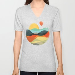 Let the world be your guide Unisex V-Neck