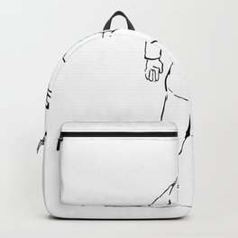 Retro Waiter Running Serving Coffee Drawing Backpack