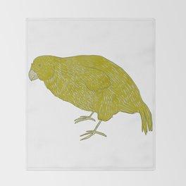 Kakapo Says Hello! Throw Blanket