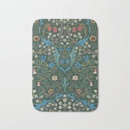 William Morris Blackthorn Wallpaper Block Print Pattern, 1892 Bath Mat