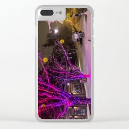 Longfellow Square Christmas Lights (2) Clear iPhone Case