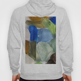 Colorful New England Beach Glass Hoody