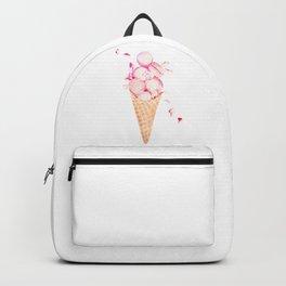 Pink Macaroons Rose Ice Cream Fashion Stylish Minimalism Food Backpack