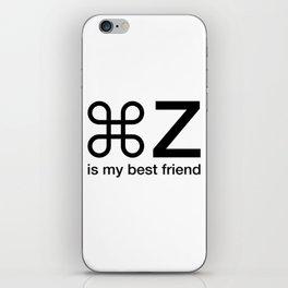 Command Z Funny Graphic Designer Unisex Shirt My Best Friend iPhone Skin