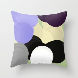 rolling cycles Throw Pillow