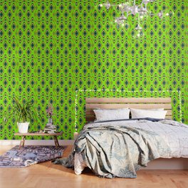 Bright shapes in neon green Wallpaper