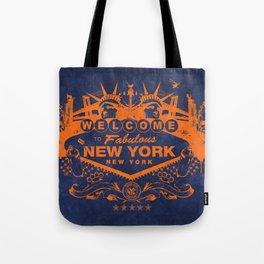 Sin City (Orange/Blue) Tote Bag
