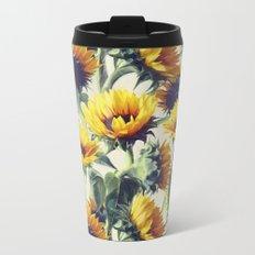 Sunflowers Forever Metal Travel Mug