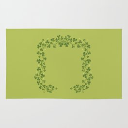 Happy St. Patrick's Day! (clovers) Rug