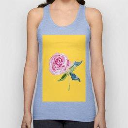Watercolor Rose Unisex Tank Top