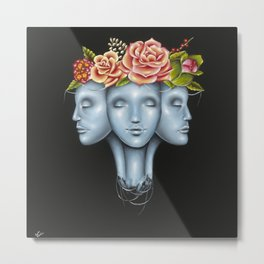 Blank Faces Metal Print