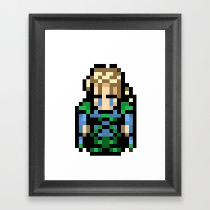 Final Fantasy III - Edgar Framed Art Print