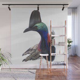 Southern Cassowary, tropical bird in the nature of Australia, New Zealand & Indonesia Wall Mural