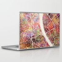 budapest Laptop & iPad Skins featuring Budapest  by MapMapMaps.Watercolors