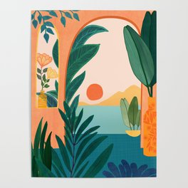 Tropical Evening Poster
