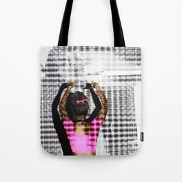 Stars & Neon pink  Tote Bag