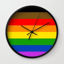 Philly Pride Flag Wall Clock