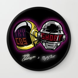 The helmets Wall Clock